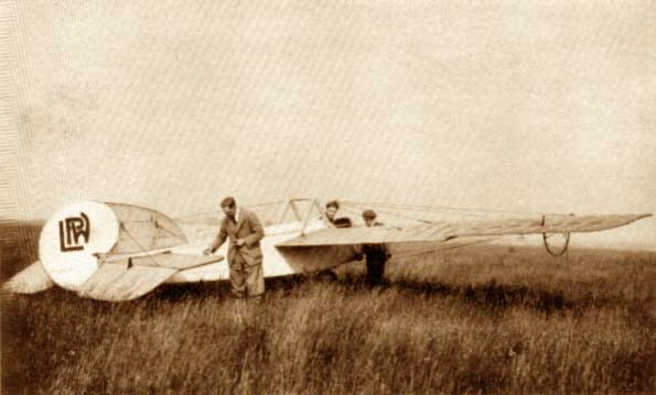 LPW Glider before flight