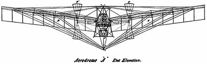 langley early flying machine aircraft drawing sketch