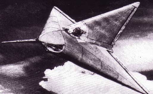 Lippisch DM-1 Glider in flight