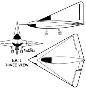 Lippisch DM-1 Glider three view