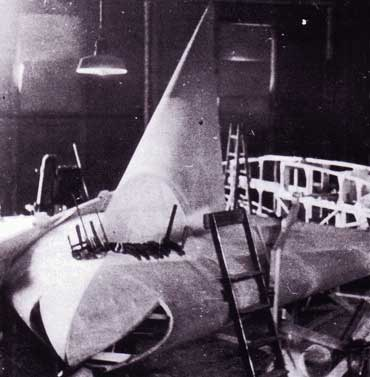 Lippisch DM-1 Glider in shop