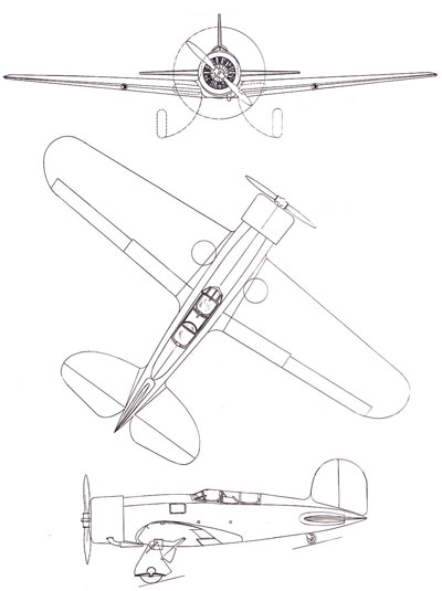 3 View of the Lockheed Altair