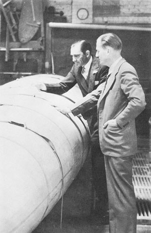 Lockheed Engineers Carl B. Squier and Richard A. Von Hake