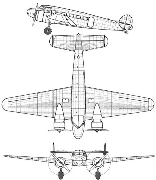 3 View Lockheed Electra