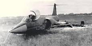 F-104 Starfighter crash