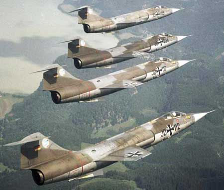 German F-104s looking neat