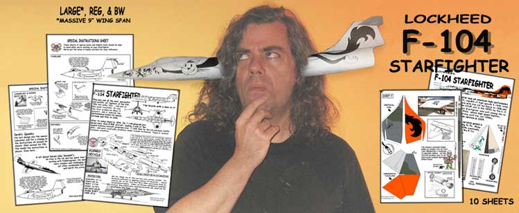 banner for Lockheed F-104 Starfighter paper model kit