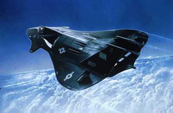 Stealth Fighter paper model illustration