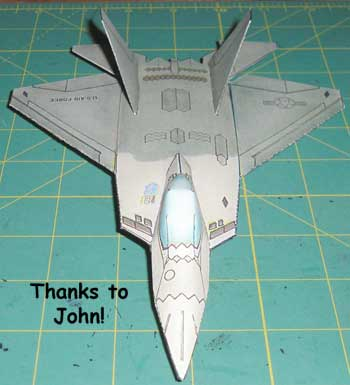 Submitted model of a F-22 Raptor Thanks John