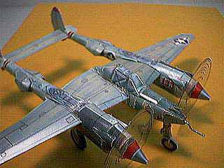 THE P-38 Lightning WWII FIghter paper model