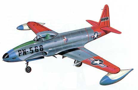 Arctic Lockheed airplane T-33