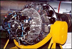 Allison Jet engine on stand