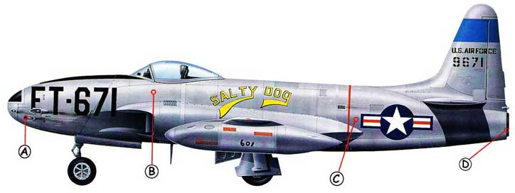 Lockheed P-80 Shooting Star Callout