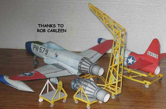 The Lockheed P-80 (F-80) Shooting Star paper model