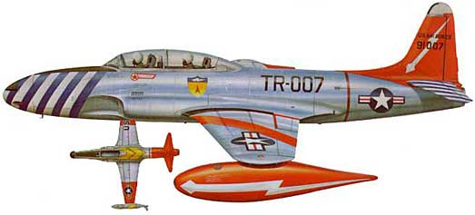 Arctic Lockheed  T-33 airplane