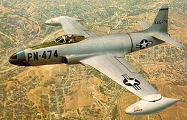 Lockheed F-80 flying