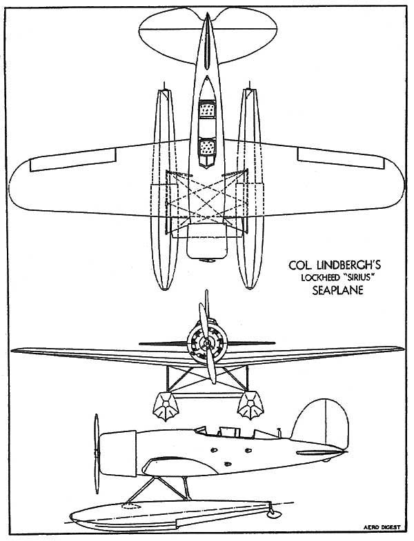 3 View Lockheed Sirius