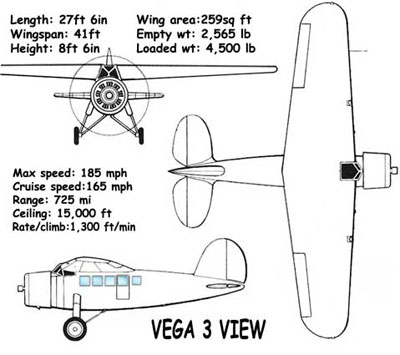 3 View of the Lockheed Vega