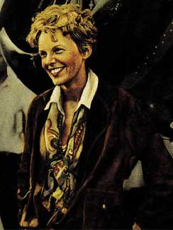 A Happy Amelia Earhart
