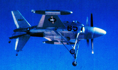 Lockheed XFV-1 Salmon in flight