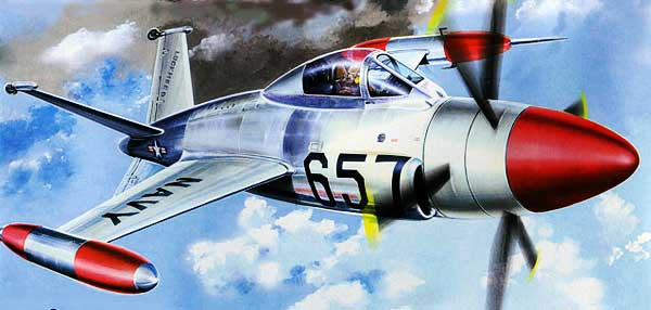 art work for the Lockheed XFV-1 Salmon paper model
