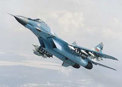 MiG-29 Fulcrum In Flight