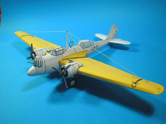 Martin B-10 Medium Bomber paper model