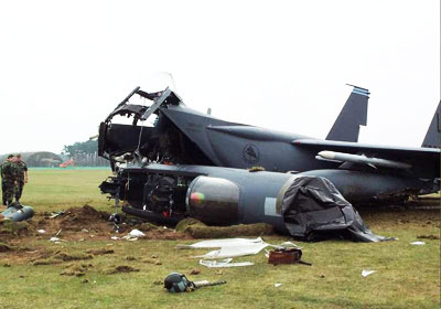 McDonnell Douglas F-15 Eagle Crash