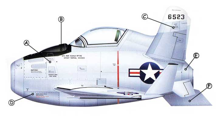 McDonnell XF-85 Goblin Callout