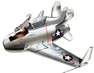 McDonnell XF-85 Goblin illustration for  paper model