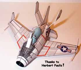 paper model of the XF-85 McDonnell Goblin
