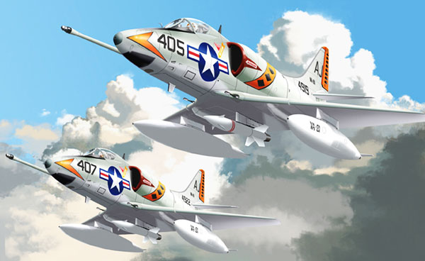 Illustration for McDonnell Douglas A4 Skyhawk paper model
