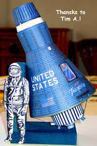 Mercury Capsule paper cardmodel