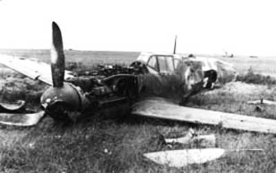 Messerschmitt Me-109 Crash