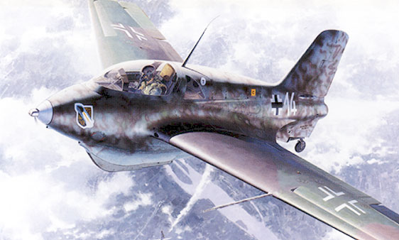 Messerschmitt ME-163 Komet paper model artwork