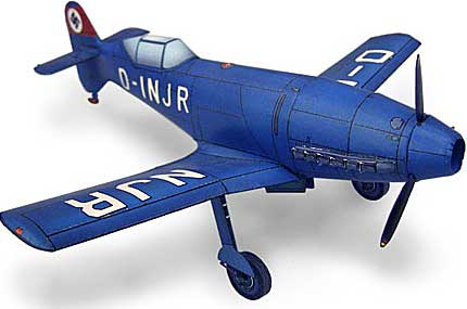 paper model of Messerschmitt Me 209