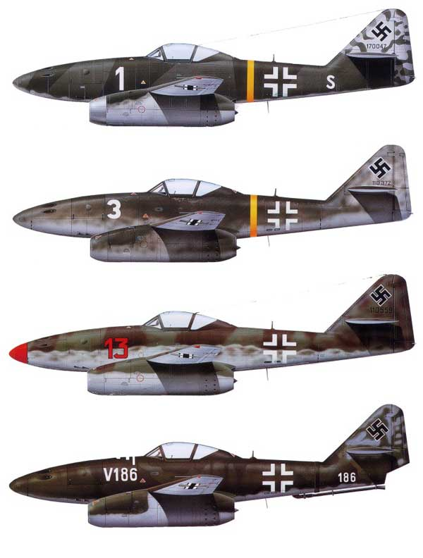 Messerschmitt Me 262 Swallow Paint Schemes