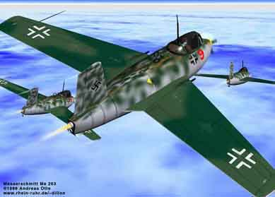 Messerschmitt ME-263 attack