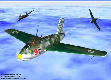 Messerschmitt ME-263 flight