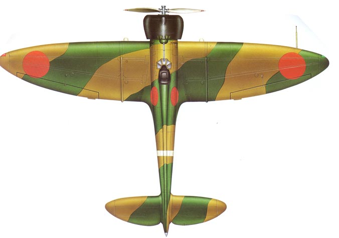 Mitsubishi A5M top view