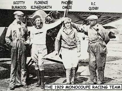 1929 Monocoupe racing team
