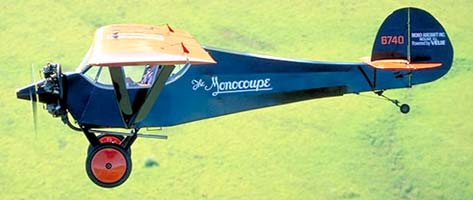 Monocoupe flying