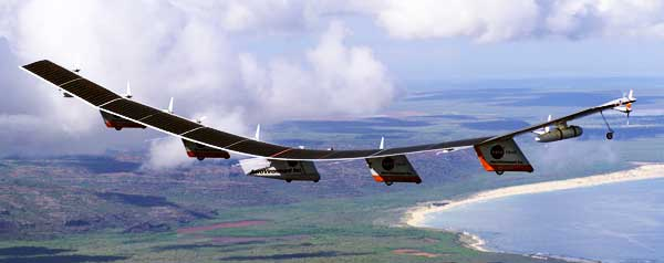 NASA Helios Solar Powerd Aircraft In Flight
