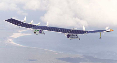NASA Pathfinder Plus in flight