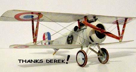Nieuport 17 paper model