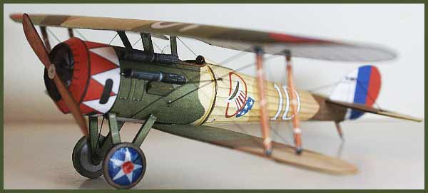 A paper model of Nieuport 28