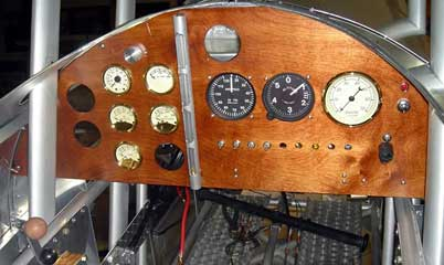 Nieuport 28  Instrument panel