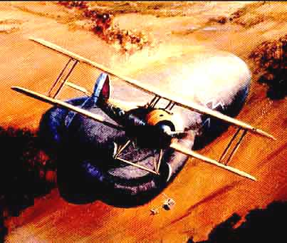 Nieuport 28 blowing up a German Balloon