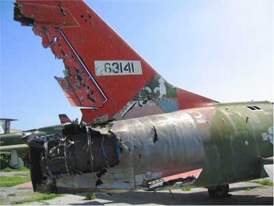 Remains of a North American F-100 Super Sabre