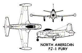 North American FJ-1 Fury 3 view